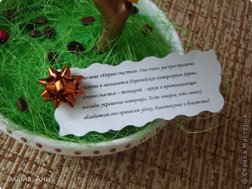 "Кофейный топиарий ""Бусинка"" фото 4"