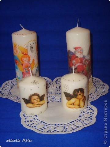 Новогодние свечи фото 1
