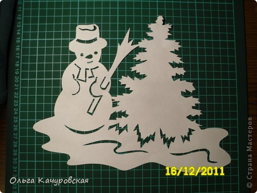 Интерьер Новый год Вырезание Снеговиков  вагон и маленькая тележка   Бумага фото 16