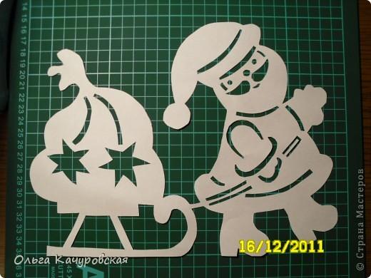 Интерьер Новый год Вырезание Снеговиков вагон и маленькая тележка Бумага фото 18.