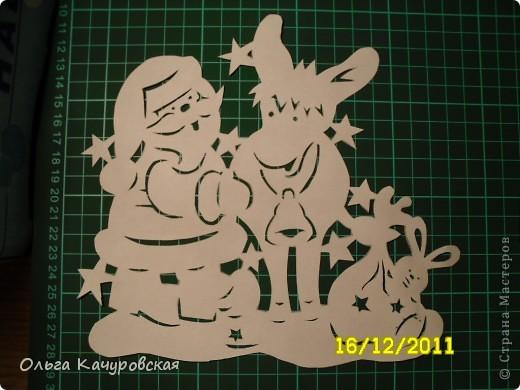 Интерьер Новый год Вырезание Снеговиков  вагон и маленькая тележка   Бумага фото 25