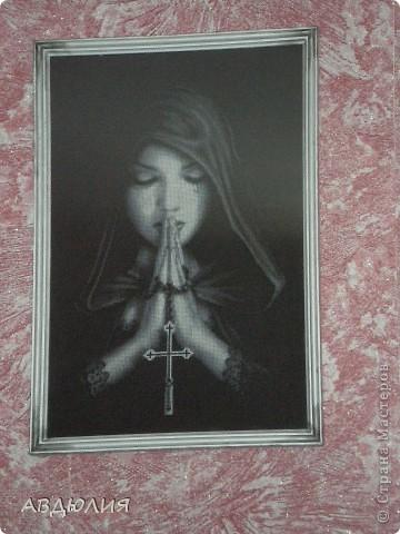 Вышивка крестом Молящаяся