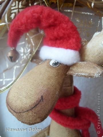 """Открывает его лосик от """"ЛеНкина"""".Вот такой печенюшный лосик!!!Ароматный,я в этом уверена,вгзляд озорной!!!Веночек получился яркий-праздничный.Леночка,молодечика!!! фото 25"""