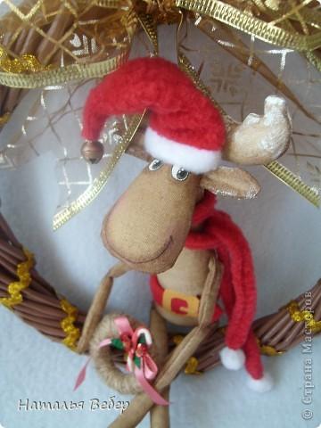 """Открывает его лосик от """"ЛеНкина"""".Вот такой печенюшный лосик!!!Ароматный,я в этом уверена,вгзляд озорной!!!Веночек получился яркий-праздничный.Леночка,молодечика!!! фото 29"""