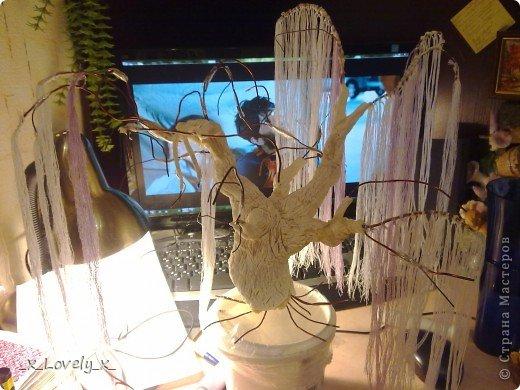 Я думаю многие видели МК по дереву из бисера из фильма Аватар(https://stranamasterov.ru/node/128229)Меня очень впечатлила эта работа( да и фильм я люблю) и я решила сделать это дерево.Но так как я - это я, купив бисер, я пересмотрела фильм и ко мне без всякого предупреждения, вполне неожиданно пришла идея: мне показалось, что веточки дерева больше похожи на ниточки. Ну это в моём духе: сначала приготовится..., а потом сделать всё по-другому))))Ну и я решила попробовать с нитками. Эмм... Мне кажется получилось неплохо))Ну и собственно небольшой МК. фото 5