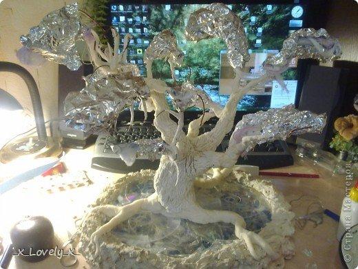 Я думаю многие видели МК по дереву из бисера из фильма Аватар(https://stranamasterov.ru/node/128229)Меня очень впечатлила эта работа( да и фильм я люблю) и я решила сделать это дерево.Но так как я - это я, купив бисер, я пересмотрела фильм и ко мне без всякого предупреждения, вполне неожиданно пришла идея: мне показалось, что веточки дерева больше похожи на ниточки. Ну это в моём духе: сначала приготовится..., а потом сделать всё по-другому))))Ну и я решила попробовать с нитками. Эмм... Мне кажется получилось неплохо))Ну и собственно небольшой МК. фото 10