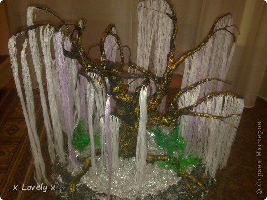Я думаю многие видели МК по дереву из бисера из фильма Аватар(https://stranamasterov.ru/node/128229)Меня очень впечатлила эта работа( да и фильм я люблю) и я решила сделать это дерево.Но так как я - это я, купив бисер, я пересмотрела фильм и ко мне без всякого предупреждения, вполне неожиданно пришла идея: мне показалось, что веточки дерева больше похожи на ниточки. Ну это в моём духе: сначала приготовится..., а потом сделать всё по-другому))))Ну и я решила попробовать с нитками. Эмм... Мне кажется получилось неплохо))Ну и собственно небольшой МК. фото 13