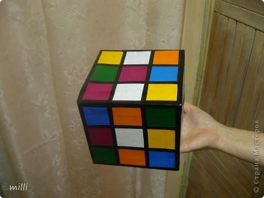 """кубик-рубик для сына в школу на конкурс """"Новогодняя игрушка на ёлку"""" фото 4"""
