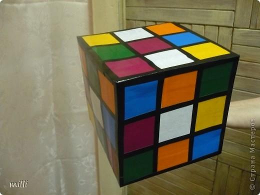 """кубик-рубик для сына в школу на конкурс """"Новогодняя игрушка на ёлку"""" фото 2"""