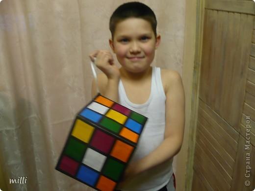 """кубик-рубик для сына в школу на конкурс """"Новогодняя игрушка на ёлку"""" фото 3"""
