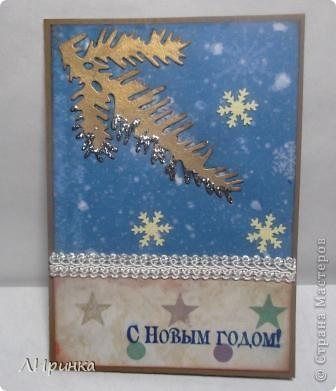 """Вот такая родилась у меня открытка. Учавствую с ней в задании Волгоградского скрап-клуба """"Чем пахнет Новый год""""http://s017.radikal.ru/i400/1111/da/7c1c1d1d5a92.jpg фото 4"""