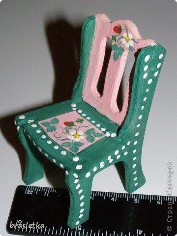 Кукольный столовый гарнитур. Роспись по дереву. Мебель для кукольного дома. фото 4