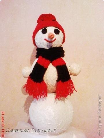 """Этого снеговика мы """"слепили""""всей семьёй  для участия в школьном конкурсе... фото 3"""