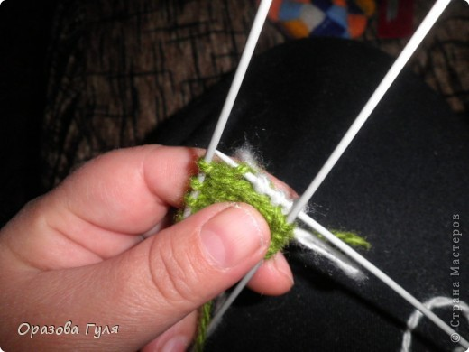 Гардероб Мастер-класс Вязание спицами Носки плетенкой мастер-класс Пряжа фото 6