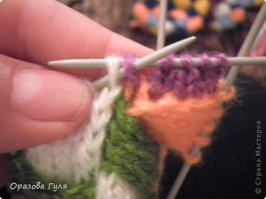 Гардероб Мастер-класс Вязание спицами Носки плетенкой мастер-класс Пряжа фото 19