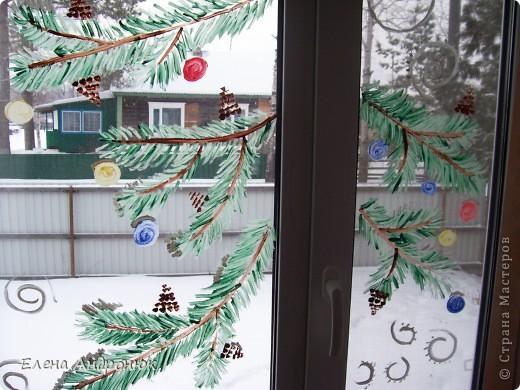 Решила украсить кухонное окно  фото 1