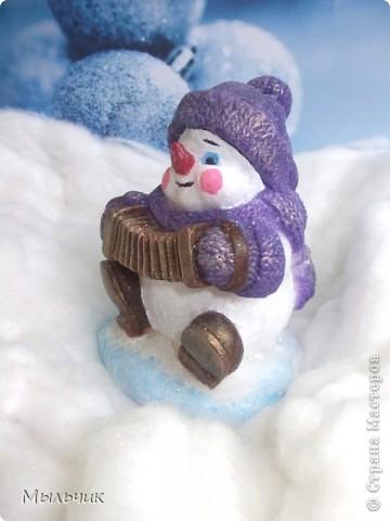 "Мыло ""Снеговик с гармошкой""."