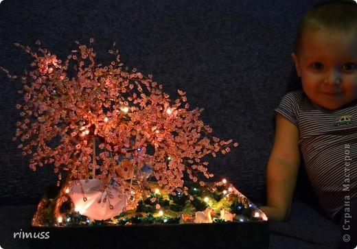 Поделка изделие Бисероплетение Лепка Торцевание Сакура Бисер Бумага гофрированная Гипс Диски компьютерные Клей Краска...