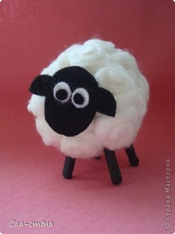 Поделка новогодняя овечка - Новогодняя овечка (детская поделка из подручного материала)