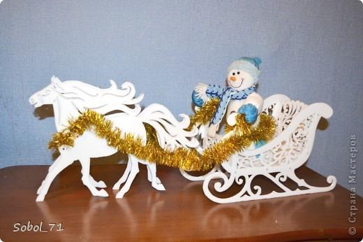 Поделки новогодние сани деда мороза