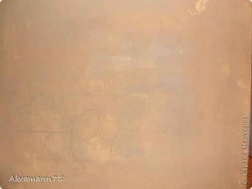 Картина панно рисунок Мастер-класс Натюрморт Рисование и живопись Claret Grapes холст масло 30х40 30 11 2011-27 12 2011 мой первый мастер-класс Краска фото 3