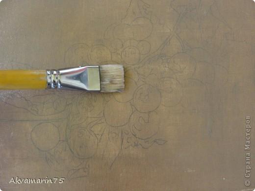 Картина панно рисунок Мастер-класс Натюрморт Рисование и живопись Claret Grapes холст масло 30х40 30 11 2011-27 12 2011 мой первый мастер-класс Краска фото 4