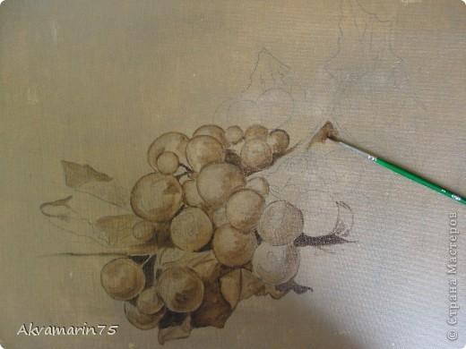 Картина панно рисунок Мастер-класс Натюрморт Рисование и живопись Claret Grapes холст масло 30х40 30 11 2011-27 12 2011 мой первый мастер-класс Краска фото 5