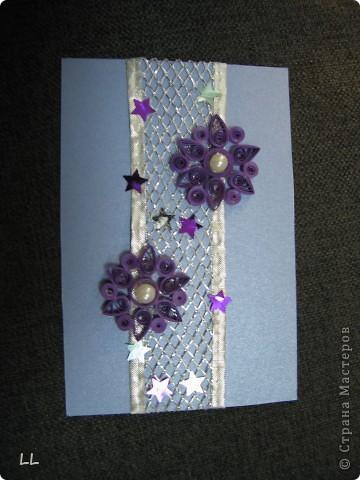 снежинки на открытке фото 1