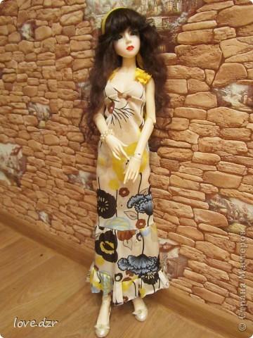 Платье и парик сделано мной. фото 3
