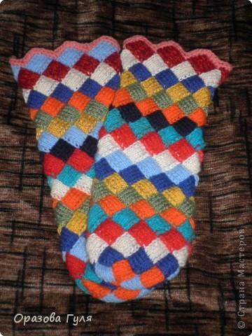 Оказывается подобное вязание называется энтерлак!  А я все плетенка, плетенка... Хочу рассказать как я их вязала.  фото 39