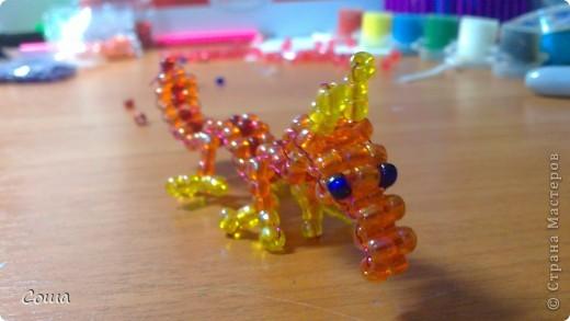 вот мой дракончик из бисера! фото 1