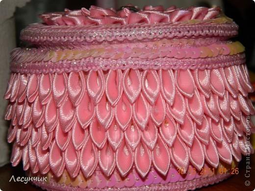 Мастер-класс 8 марта День матери День рождения Новый год Цумами Канзаши Шктулка канзаши Картон Ленты фото 18