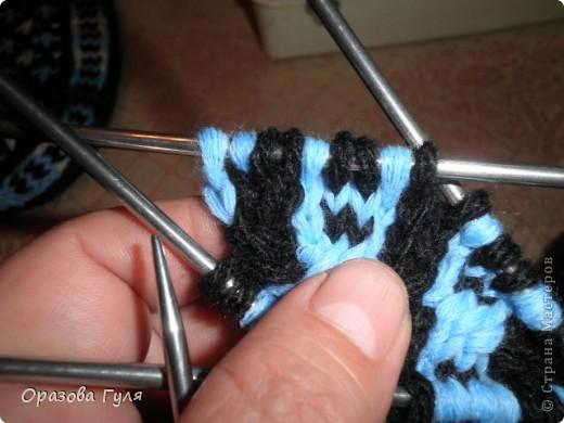 Гардероб Мастер-класс Вязание спицами Носки от мыска Мастер-класс Пряжа фото 11
