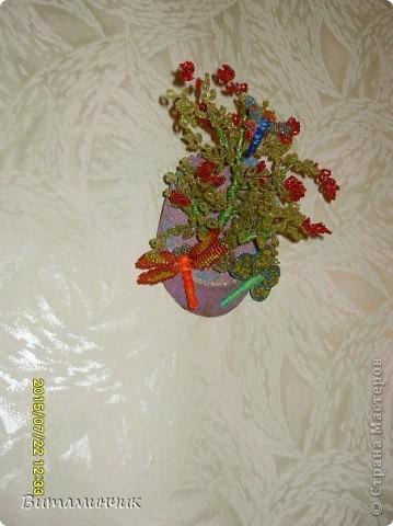 Поделка изделие Бисероплетение веточка из бисера на деревце Бисер Дерево Проволока фото 1.