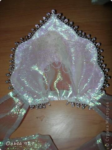 Мастер-класс Новый год Шитьё Мои работы + МК по изготовлению кокошника Бусины Пайетки Сутаж тесьма шнур Ткань фото 24