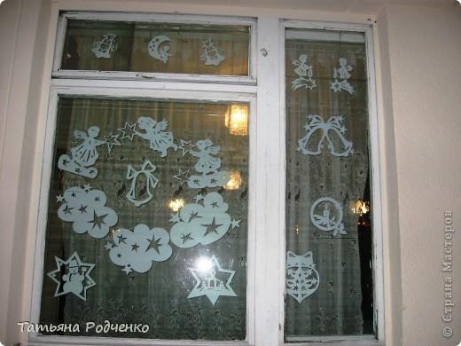 Интерьер Новый год Вырезание Новогодние окна Вытынанки Бумага фото 5