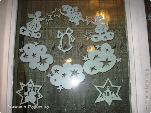 Интерьер Новый год Вырезание Новогодние окна Вытынанки Бумага фото 6