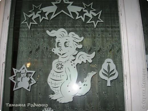 Интерьер Новый год Вырезание Новогодние окна Вытынанки Бумага фото 4