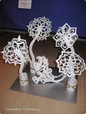 Интерьер Новый год Вырезание Новогодние окна Вытынанки Бумага фото 15