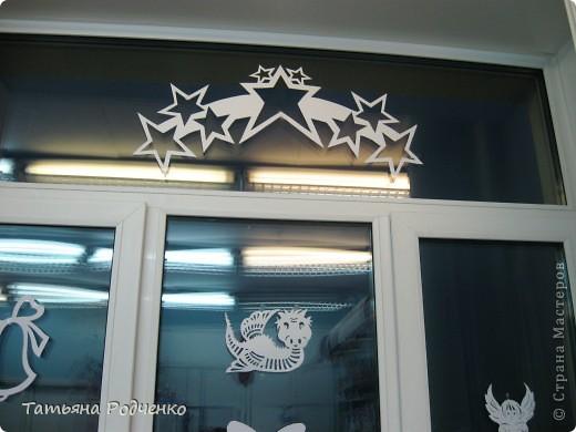 Интерьер Новый год Вырезание Новогодние окна Вытынанки Бумага фото 12
