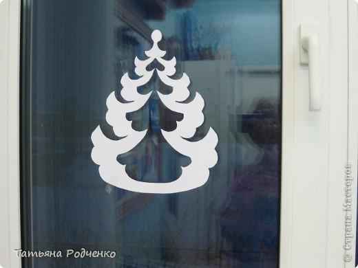 Интерьер Новый год Вырезание Новогодние окна Вытынанки Бумага фото 16