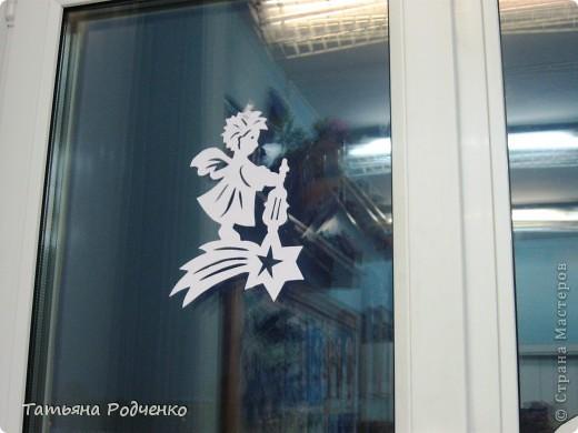 Интерьер Новый год Вырезание Новогодние окна Вытынанки Бумага фото 17.
