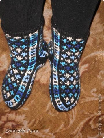 Гардероб Мастер-класс Вязание спицами Носки от мыска Мастер-класс Пряжа фото 22