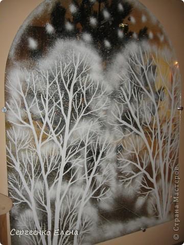 Роспись - Оформление зеркал к Новому году и Рождеству в детском саду.