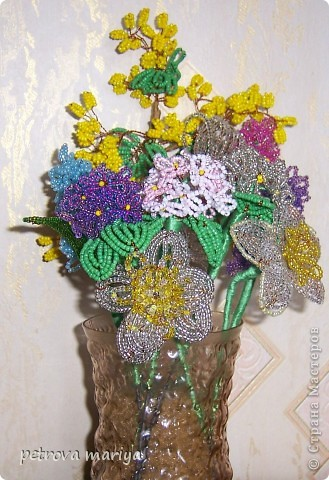 Деревья и цветы из бисера бисер фото 4