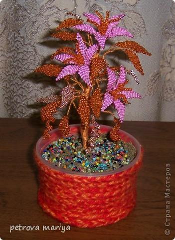 Поделка изделие Бисероплетение Деревья и цветы из бисера Бисер фото 6.