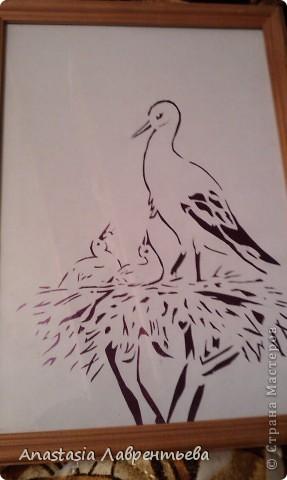 Картина панно рисунок вырезание
