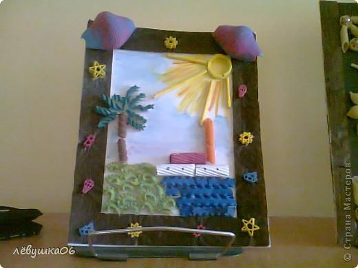 Рисунок из макарон для детей