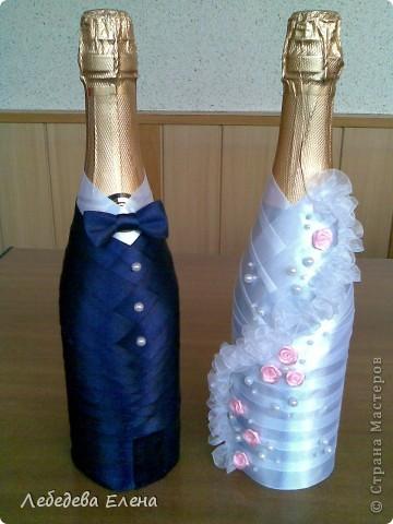 Мастер класс свадебные бутылки своими руками