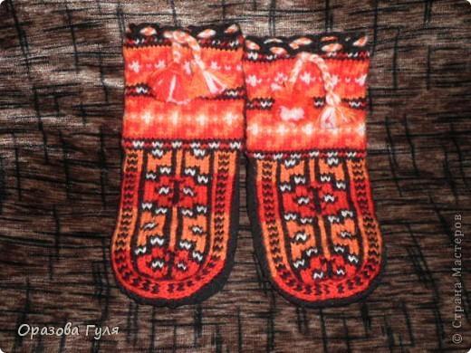 Теплые носки с орнаментом. Джурабы. фото 10
